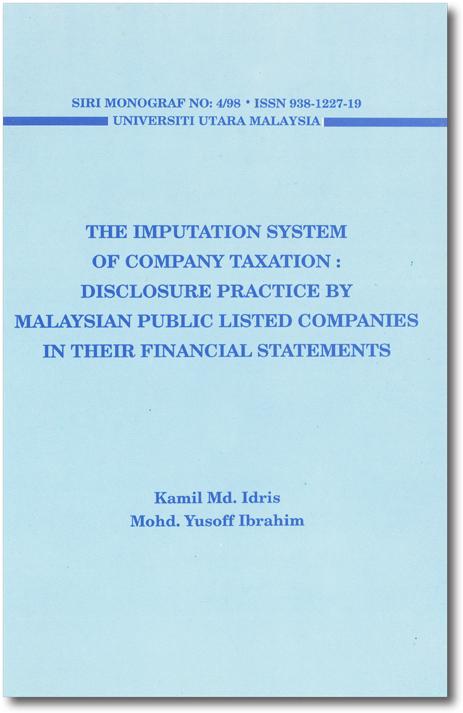 The Imputation System of Company Taxation: Disclosure ...
